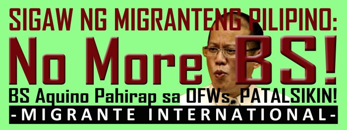 SUMA-Total: Filipinos around the world want BS Aquino out (Summing-Up of the State of Migrants Under Aquino 2014)