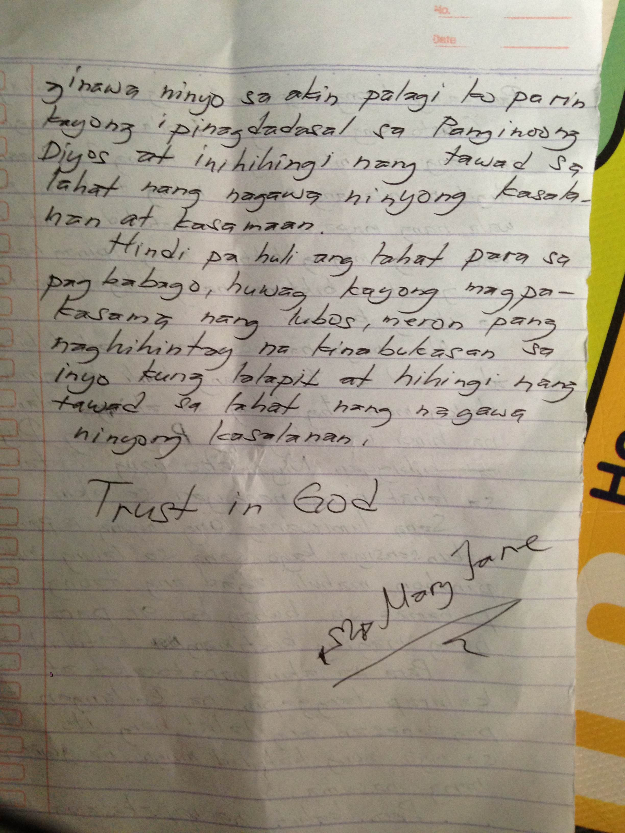 Sample Resignation Letter For Barangay Officials