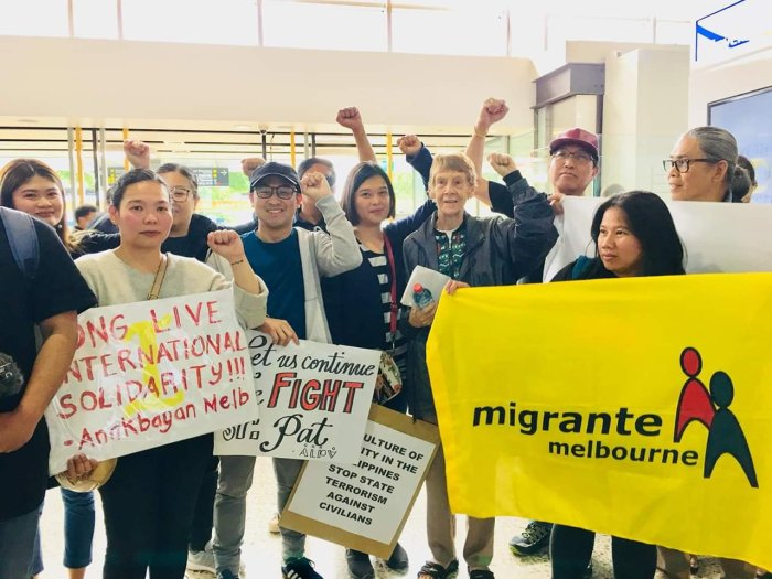 Migrante Australia Welcomes Sr. Pat